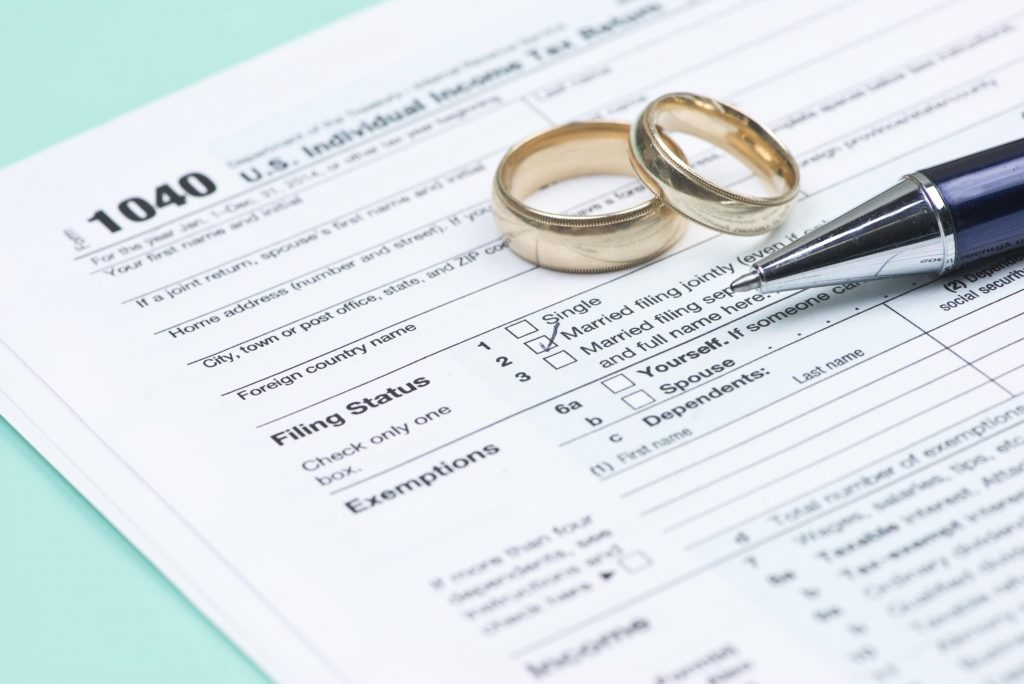 IRS wedding rings form 1040